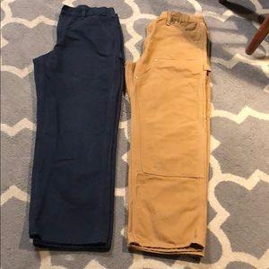 2 Carhartt Men's Pants